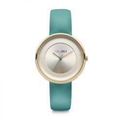 Frauen-Uhr Pastellcreme 36 | Türkis
