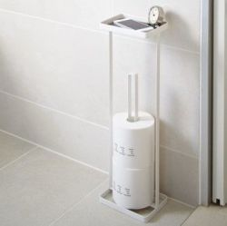 Toilet Paper Holder Open Tower | White