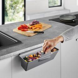 Sammeltablett für Küchenabfälle | Grau
