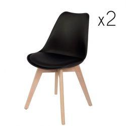 2er-Set Stühle Mia | Eiche schwarz