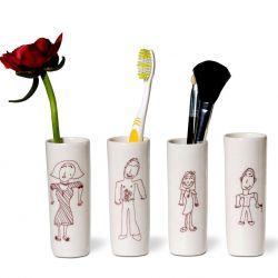 Tootbrush Vases Ulrike Family Part I
