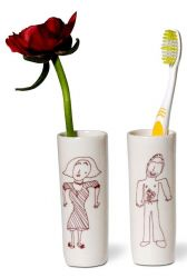 Tootbrush Vases Ulrike Family Mom & Dad