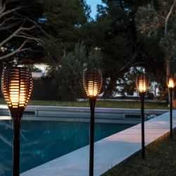 Waterproof Torches Flame Light Set of 2