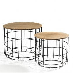 Tables d'Appoint Tore Set de 2