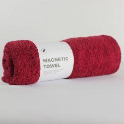 Magnetic Bath Towel | Dark Red