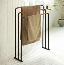 Bath Towel Hanger Plain | Black