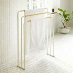 Bath Towel Hanger Plain | White