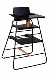 TOWERchair | Black/Brown Leather