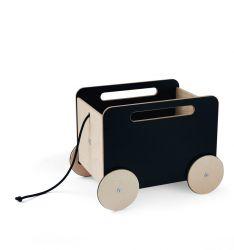 Spielzeugkiste auf Rädern | Tafel