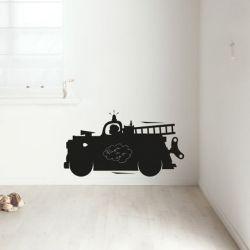 Kreidetafelspielzeug für Jungen | Feuerwehrauto