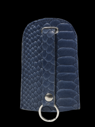 Key Case Home Bell Croco | Blue