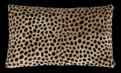 Leather Pillow Safari Rectangular | Cheetah