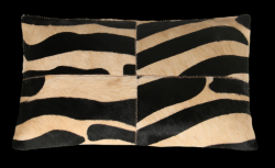 Leather Pillow Safari Rectangular | Zebra