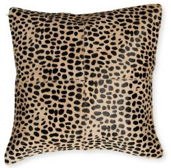 Leather Pillow Safari | Cheetah