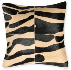 Leather Pillow Safari | Zebra