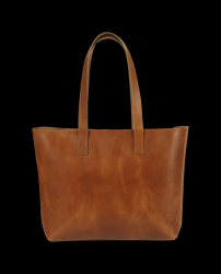 Tote Bag with Zipper Lucy | Cognac