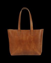 Tote Bag met Rits Lucy | Cognac