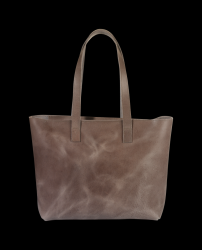 Tote Bag with Zipper Lucy | Grey