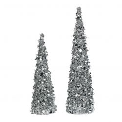 2er-Set Nadelbaum | Silber