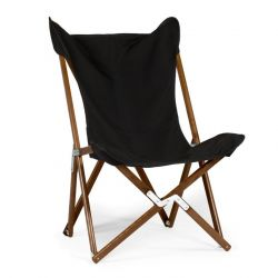 Tripolina Lounge Chair Stained | Black