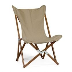Tripolina Lounge Chair Stained | Light Brown