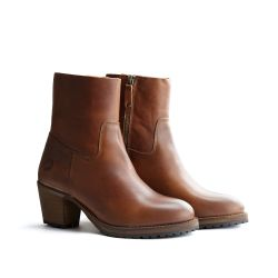 Bottines en Cuir 'Travelin Bordeaux Femmes' | Cognac