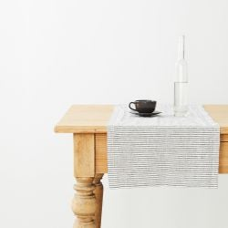 Table Runner 150 x 40 cm  | Thin Black Stripe