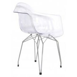 Diamond Transparent Arm Chair
