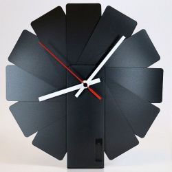 Desk/Wall Foldable Analog Clock Transformer | Black & Black