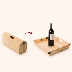 2-in-1-Weinkiste & Serviertablett Chique