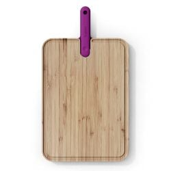 Cutting Board with Integrated Chef Knife Artù
