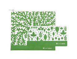 Wiederverwendbare Velcro-Sandwich-Tasche | 2er-Set | Green Tree