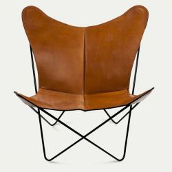 Butterfly Trifolium Chair Hazelnut & Black Frame