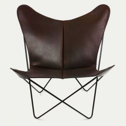 Butterfly Trifolium Chair Mocca & Black Frame