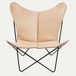 Butterfly Trifolium Chair Nature & Black Frame