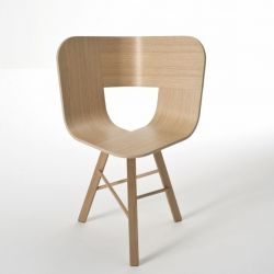 Tria wood chair 3 legs