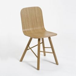 Tria simple wood chair 4 legs
