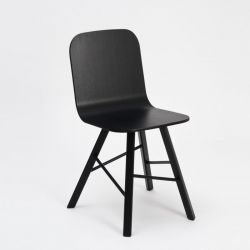 Tria simple wood chair 4 legs | black