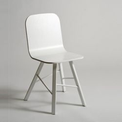 Tria simple wood chair 4 legs | white