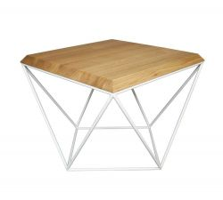 Tulip Coffee Table | Oak + White Base