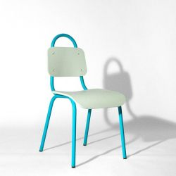 Dining Chair | Turquoise & White