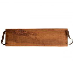 Serving Tray Pure Teak Wood | With Leather Handle I
