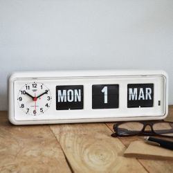 Flip-Clock BQ38 | Weiß