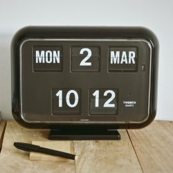 Flip Clock QD35 | Black