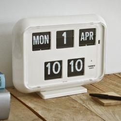 Flip Clock QD35 | White