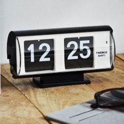 Flip Clock QT30T | Black