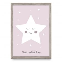 Poster | Twinkle Little Star | Pink