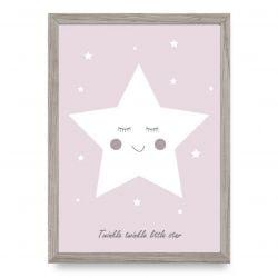 Poster | Glitzernder kleiner Stern | Rosa