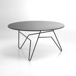 Twist Round Table Black | Large