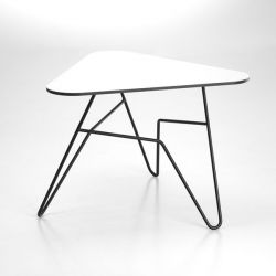 Twist Triangular Table | White